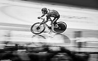 fastest lap speeding by Tristan Marguet (SUI)<br /> <br /> 2016 Gent 6<br /> day 1