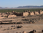 Palmeraies and kasbahs in a Berber village in the Draa Valley in Morocco.