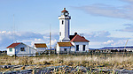 Point Wilson Lighthouse, Fort Worden State Park, Port Townsend, Washington.  Lighthouse and keepers cottage.