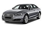 2016 Audi A6 - 4 Door Sedan Angular Front stock photos of front three quarter view