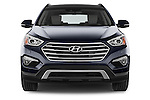 Car photography straight front view of a 2015 Hyundai Grand Santa Fe Executive 5 Door SUV