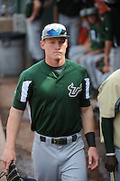 University of South Florida Bulls outfielder Luke Maglich (18) before a game against the Temple University Owls at Campbell's Field on April 13, 2014 in Camden, New Jersey. USF defeated Temple 6-3.  (Tomasso DeRosa/ Four Seam Images)