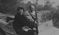 BNPS.co.uk (01202) 558833<br /> Pic: H&HAuctions/BNPS<br /> <br /> Rex Harrison and Rita Hayworth in the Jeep<br /> <br /> A World War Two jeep owned by Doctor Doolittle star Rex Harrison is expected to sell for £30,000.<br /> <br /> The durable 1943 Ford GPW originally served with the British army's 6th armoured division and was later bought by the Oscar winner in Italy.  <br /> <br /> Two original pictures of Harrison in the military green vehicle, including one with glamorous Hollywood icon, Rita Hayworth, are included in the sale.