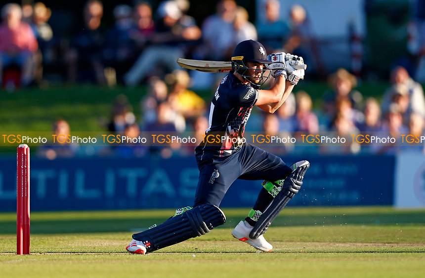 Ollie Robinspon hits out for Kent during Kent Spitfires vs Hampshire Hawks, Vitality Blast T20 Cricket at The Spitfire Ground on 9th June 2021
