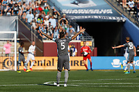 Minneapolis, MN - Sunday, July 22, 2018: Minnesota United FC played Los Angeles FC in a Major League Soccer (MLS) game at TCF Bank Stadium Final score Minnesota United 5, LAFC 1