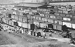Pittsburgh PA:  View of the daily activity in the railroad yards around the 22nd street in the strip district.