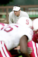 Tom Quinn during practices on April 8, 2002 at the practice field at Stanford, CA.<br />Photo credit mandatory: Gonzalesphoto.com