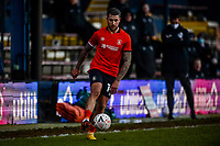 9th January 2021; Kenilworth Road, Luton, Bedfordshire, England; English FA Cup Football, Luton Town versus Reading; George Moncur of Luton Town comes forward on the ball