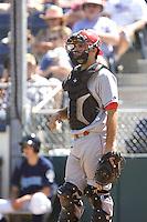 July 11, 2010: Spokane Indians catcher Brett Nicholas (7) during a Northwest League game against the Everett AquaSox at Everett Memorial Stadium in Everett, Washington.