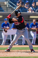 Lake Elsinore Storm Luis Torrens (12) at bat against the Rancho Cucamonga Quakes at LoanMart Field on April 22, 2018 in Rancho Cucamonga, California. The Storm defeated the Quakes 8-6.  (Donn Parris/Four Seam Images)