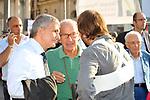 NIKI VENDOLA E FAUSTO BERTINOTTI<br /> MANIFESTAZIONE PER LA LIBERTA' DI STAMPA PROMOSSA DAL FNSI<br /> PIAZZA DEL POPOLO ROMA 2009