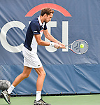 August 1,2019:  Daniil Medvedev(RUS) defeated Frances Tiafoe (USA) in the first set 6-2, at the Citi Open being played at Rock Creek Park Tennis Center in Washington, DC, .  ©Leslie Billman/Tennisclix