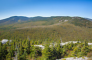 Pemigewasset Wilderness from the summit of Whitewall Mountain in the White Mountains, New Hampshire USA during the autumn months. Zeacliff is on the right.