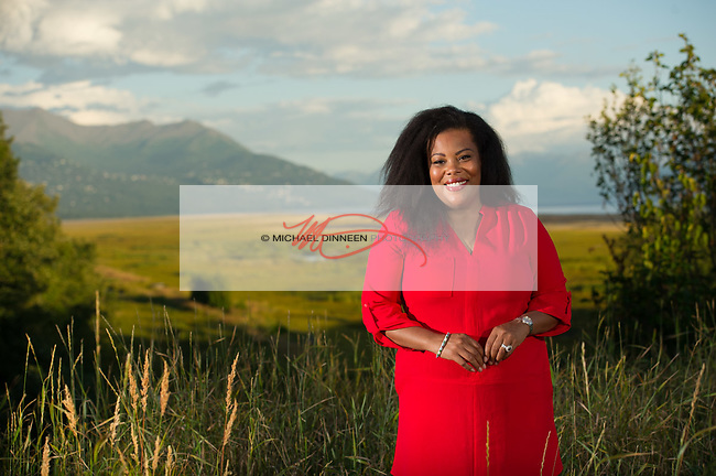 Kim Waller endorsing the Alaskans for Better Elections campaign Friday, August 21, 2020 in Anchorage Alaska.
