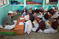 Madrasa Students Reading Koran Passages to Imam, Madrasa Imdadul Uloom, Dehradun, India.