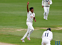 Jas Singh making his debut for Kent celebrates taking the wicket of Oli Carter during Kent CCC vs Sussex CCC, LV Insurance County Championship Group 3 Cricket at The Spitfire Ground on 11th July 2021