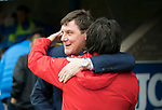 St Johnstone v Dundee…11.03.17     SPFL    McDiarmid Park<br />Tommy Wright greets Paul Hartley before kick off<br />Picture by Graeme Hart.<br />Copyright Perthshire Picture Agency<br />Tel: 01738 623350  Mobile: 07990 594431