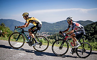 George Bennett (AUS/Jumbo Visma) & Vincenzo Nibali (ITA/Trek-Segafredo) up the infamous Muro di Sormano (avg 17%/max 25%)<br /> <br /> 114th Il Lombardia 2020 (1.UWT)<br /> 1 day race from Bergamo to Como (ITA/231km) <br /> <br /> ©kramon