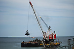 Rollers Coster removed from the ocean after Superstorm Sandy hit Seaside Heights  in New Jersey