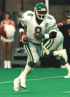 Homer Jordan Saskatchewan Roughriders quarterback 1985. Copyright photograph Scott Grant