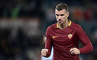 Calcio, ottavi di finale di Tim Cup: Roma vs Sampdoria. Roma, stadio Olimpico, 19 gennaio 2017.<br /> Roma's Edin Dzeko celebrates after scoring during the Italian Cup round of 16 football match between Roma and Sampdoria at Rome's Olympic stadium, 19 January 2017.<br /> UPDATE IMAGES PRESS/Isabella Bonotto