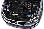 Car stock 2018 Seat Leon ST Style 5 Door Wagon engine high angle detail view