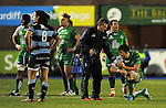 Connacht's Jake Heenan goes down injured<br /> Guiness Pro12<br /> Cardiff Blue v Connacht<br /> BT Sport Cardiff Arms Park<br /> 06.03.15<br /> ©Ian Cook -SPORTINGWALES