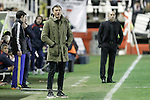 Rayo Vallecano's coach Paco Jemez (r) and FC Barcelona's coach Luis Enrique Martinez during La Liga match. March 3,2016. (ALTERPHOTOS/Acero)