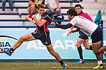 James Karton (l) of Hong Kong in action during the match between South Korea and Hong Kong of the Asia Rugby U20 Sevens Series 2016 on 12 August 2016 at the King's Park, in Hong Kong, China. Photo by Marcio Machado / Power Sport Images