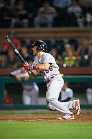 Glendale Desert Dogs Harrison Bader (36), of the St. Louis Cardinals organization, during a game against the Scottsdale Scorpions on October 14, 2016 at Scottsdale Stadium in Scottsdale, Arizona.  Scottsdale defeated Glendale 8-7.  (Mike Janes/Four Seam Images)