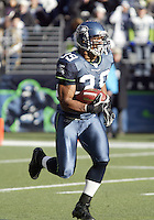 27 Nov 2005:   Seattle Seahawks kick returner Josh Scobey returned a first quarter kickoff against the New York Giants at Qwest Field in Seattle, Washington.
