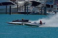"Scott Kirshner, F-266 ""Miss Supersonic II"" , 266 class hydroplane, CE-52 ""White Lightning"" (1972 Palmer 280 class hydroplane)"