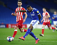 16th March 2021; Cardiff City Stadium, Cardiff, Glamorgan, Wales; English Football League Championship Football, Cardiff City versus Stoke City; Leandro Bacuna of Cardiff City shoots at goal