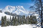 Oesterreich, Salzburger Land, Pinzgau, Maria Alm: Winterlandschaft auf der Jufenalm vorm Hochkoenig | Austria, Salzburger Land, Pinzgau, Maria Alm: winter scenery at Jufenalm, at background Hochkoenig mountains