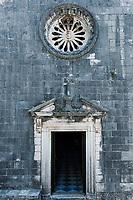 St Nikola church entrance, Kotor, Montenegro.
