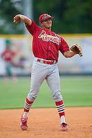 Johnson City third baseman Nicholas Vera (40) takes some ground balls during batting practice at Burlington Athletic Park in Burlington, NC, Sunday, July 15, 2007.