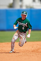 Farmingdale Rams right fielder Brandon Ernest (6) during a game against the Union Dutchmen on February 21, 2016 at Chain of Lakes Stadium in Winter Haven, Florida.  Farmingdale defeated Union 17-5.  (Mike Janes/Four Seam Images)