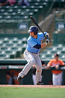 Tampa Bay Rays Erik Ostberg (41) at bat during an Instructional League game against the Baltimore Orioles on October 2, 2017 at Ed Smith Stadium in Sarasota, Florida.  (Mike Janes/Four Seam Images)