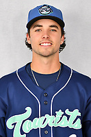 Asheville Tourists infielder Terrin Vavra (6) during media day at McCormick Field on April 2, 2019 in Asheville, North Carolina. (Tony Farlow/Four Seam Images)