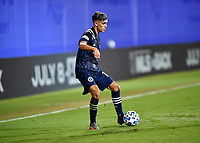 LAKE BUENA VISTA, FL - JULY 26: Jesús Medina of New York City FC in possession during a game between New York City FC and Toronto FC at ESPN Wide World of Sports on July 26, 2020 in Lake Buena Vista, Florida.