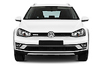 Car photography straight front view of a 2015 Volkswagen Golf Alltrack 5 Door Wagon Front View