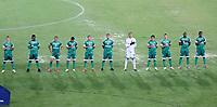 PEREIRA - COLOMBIA, 29-04-2021: Jugadores de La Equidad (COL) antes de partido entre La Equidad (COL) y Aragua F. C. (VEN) por la Copa CONMEBOL Sudamericana 2021 en el Estadio Hernan Ramirez Villegas de la ciudad de Pereira. / Players of La Equidad (COL) prior a match between La Equidad (COL) and Aragua F. C. (VEN) for the CONMEBOL Sudamericana Cup 2021 at the Hernan Ramirez Villegas Stadium, in Pereira city.  Photo: VizzorImage / Pablo Bohorquez / Cont.