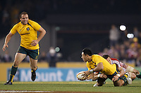 MELBOURNE, 29 JUNE 2013 -  Christian LEALI'IFANO of the Wallabies during the Second Test match between the Australian Wallabies and the British & Irish Lions at Etihad Stadium on 29 June 2013 in Melbourne, Australia. (Photo Sydney Low / sydlow.com)