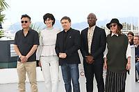 ERIC KHOO, CLOTILDE HESME, CRISTIAN MUNGIU, BARRY JENKINS AND ATHINA RACHEL TSANGARI - PHOTOCALL OF THE CINEFONDATION JURY AT THE 70TH FESTIVAL OF CANNES 2017