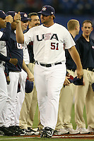 March 7, 2009:  Pitcher Jonathan Broxton (51) of Team USA during the first round of the World Baseball Classic at the Rogers Centre in Toronto, Ontario, Canada.  Team USA defeated Canada 6-5 in both teams opening game of the tournament.  Photo by:  Mike Janes/Four Seam Images