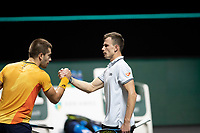 Rotterdam, The Netherlands, 6 march  2021, ABNAMRO World Tennis Tournament, Ahoy,  <br /> Semi final: Marton Fucsovics (HUN) vs. Borna Coric (CRO). Photo: www.tennisimages.com/