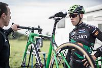 Stan Godrie (NED/Crelan Charles) pre race.<br /> <br /> cx Telenet Superprestige Gieten 2017 (NED)