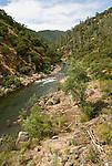 Mokelumne River near the Ponderosa Road bridge near Mokelumne Hill, Calaveras Co., Calif.