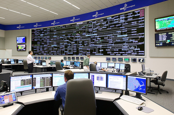 The new state of the art electricity distribution control center at ISO New England in Holyoke, MA.