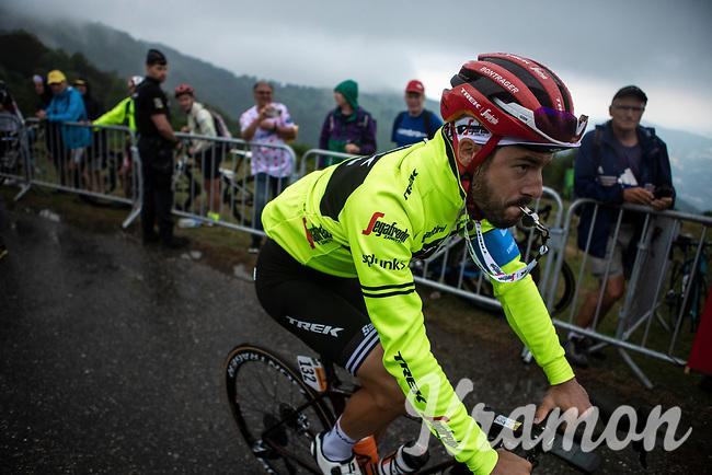 Julien Bernard (FRA/Trek Segafredo)post race  ready to make the descend back to the team bus. <br /> <br /> Stage 15: Limoux to Foix Prat d'Albis (185km)<br /> 106th Tour de France 2019 (2.UWT)<br /> <br /> ©kramon